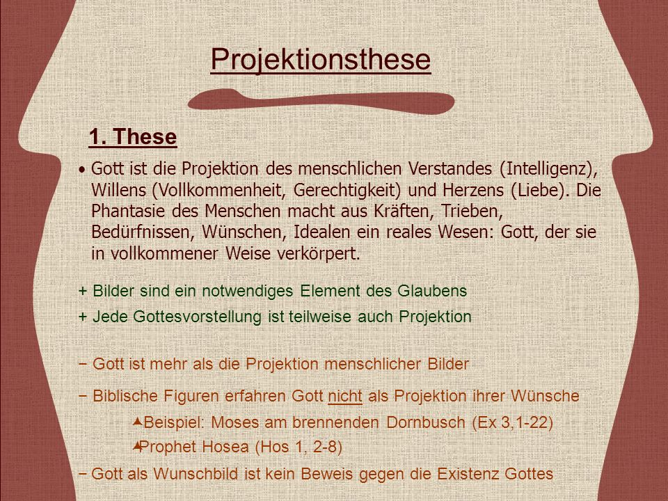 Projektionsthese 1. These