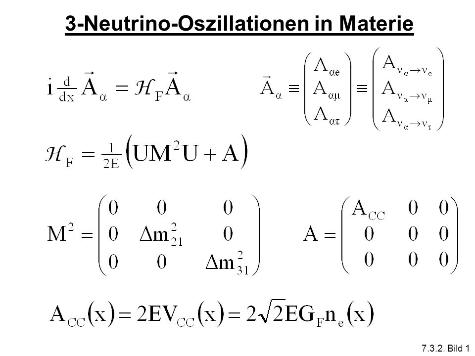 3-Neutrino-Oszillationen in Materie