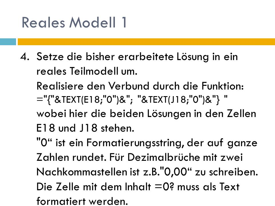 Reales Modell 1