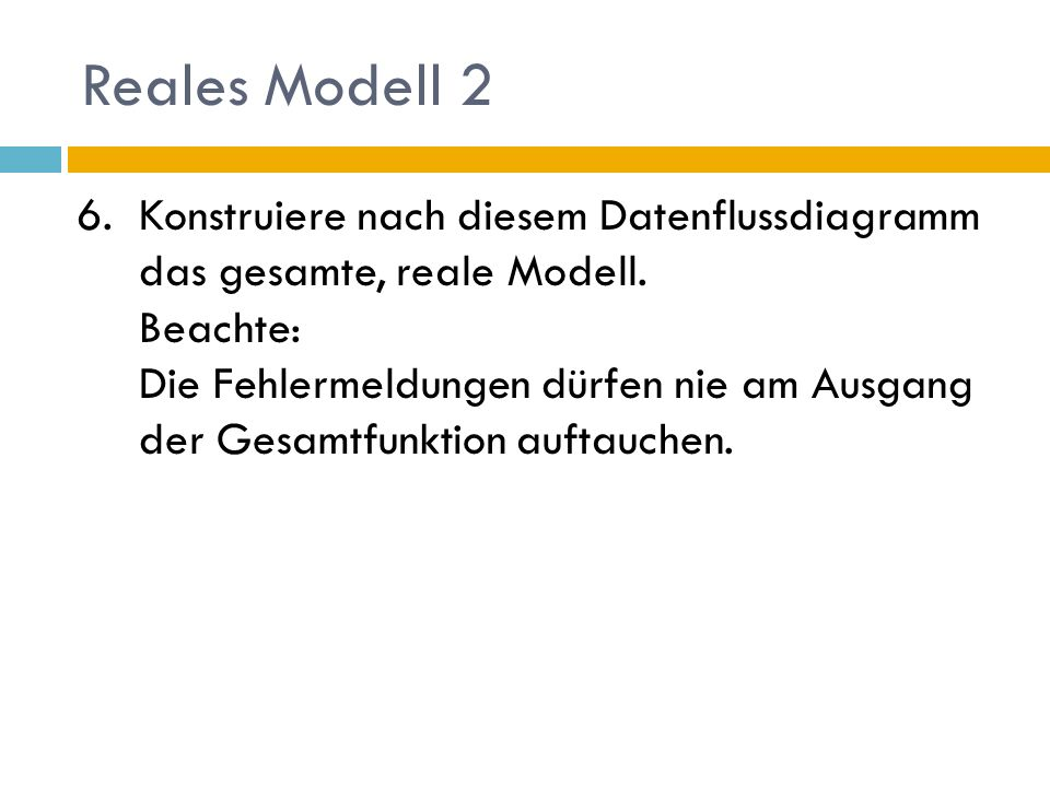 Reales Modell 2