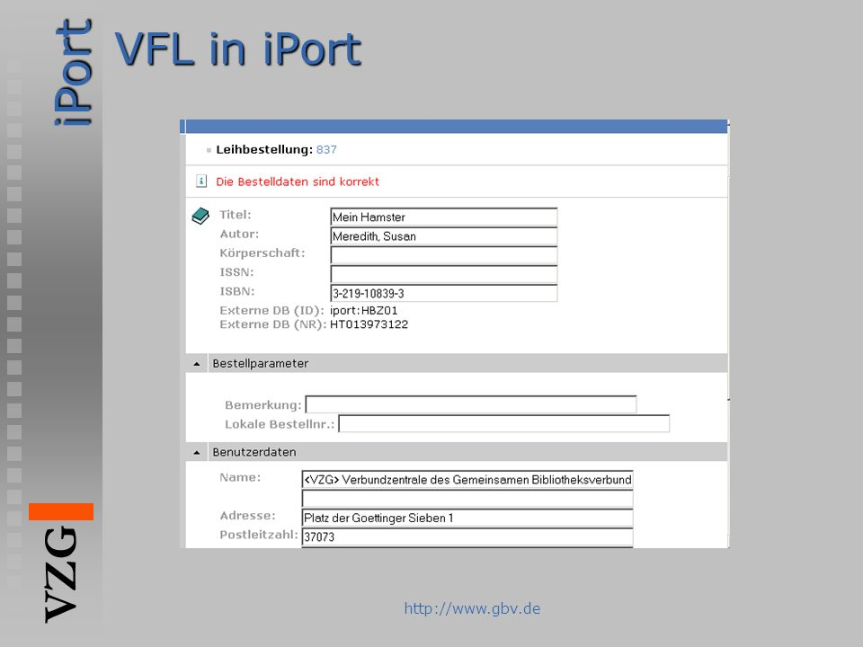 VFL in iPort
