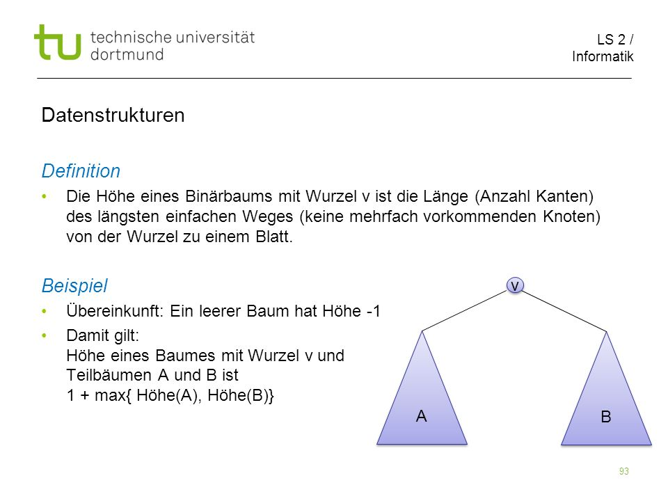 Datenstrukturen Definition Beispiel