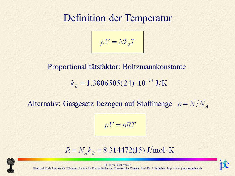 Definition der Temperatur