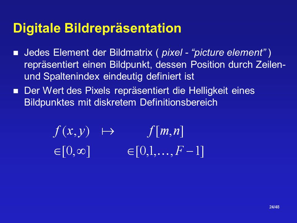 Digitale Bildrepräsentation