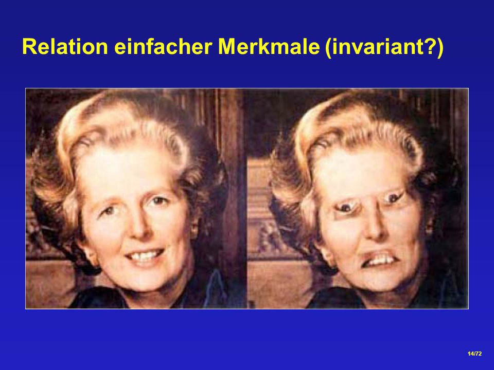 Relation einfacher Merkmale (invariant )