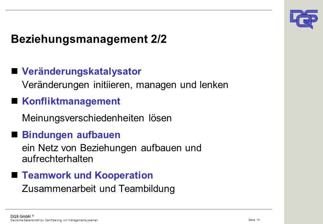 Beziehungsmanagement 2/2