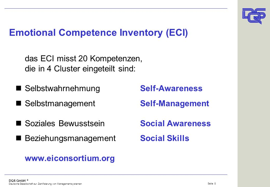 Emotional Competence Inventory (ECI)