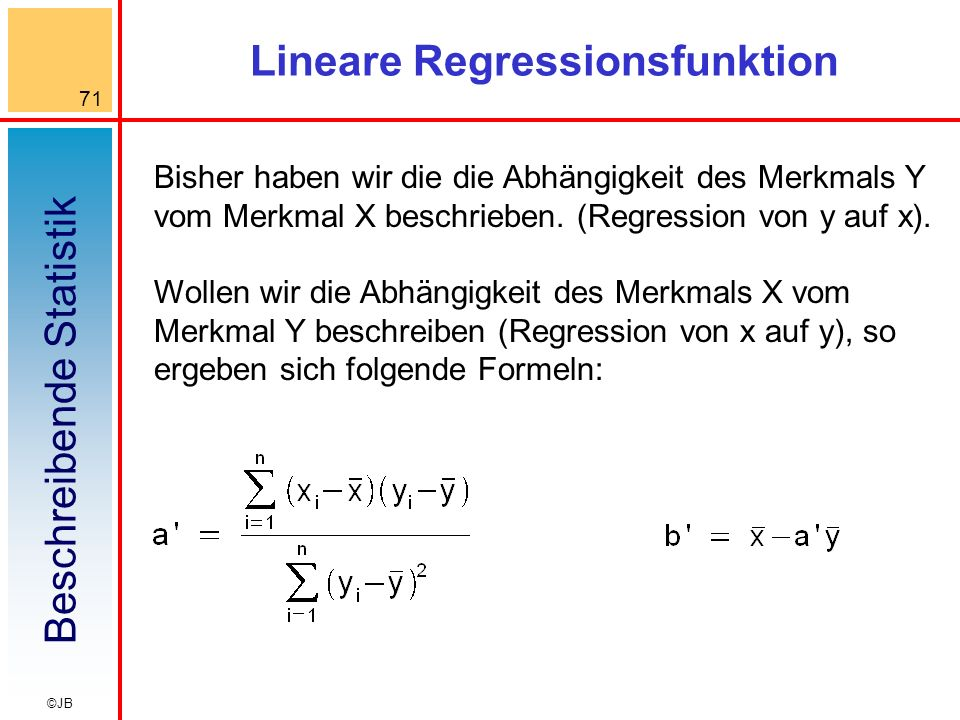 Lineare Regressionsfunktion