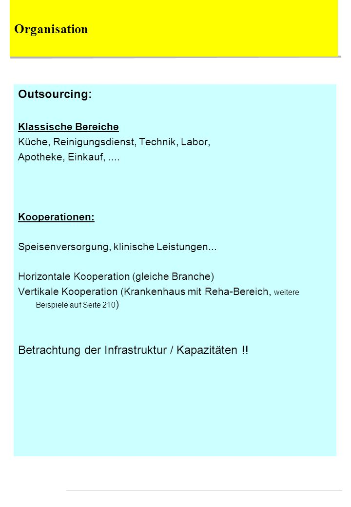 Organisation Outsourcing: