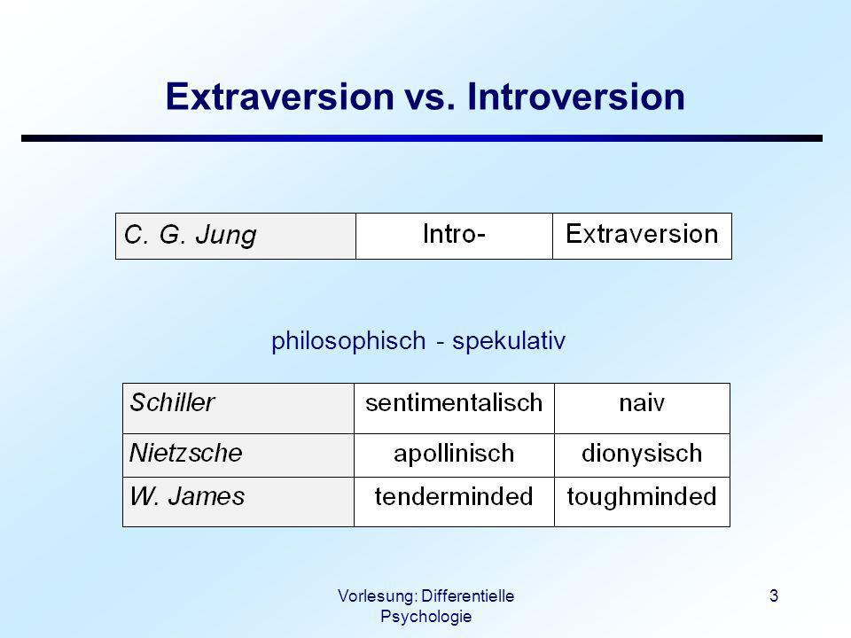 Extraversion vs. Introversion