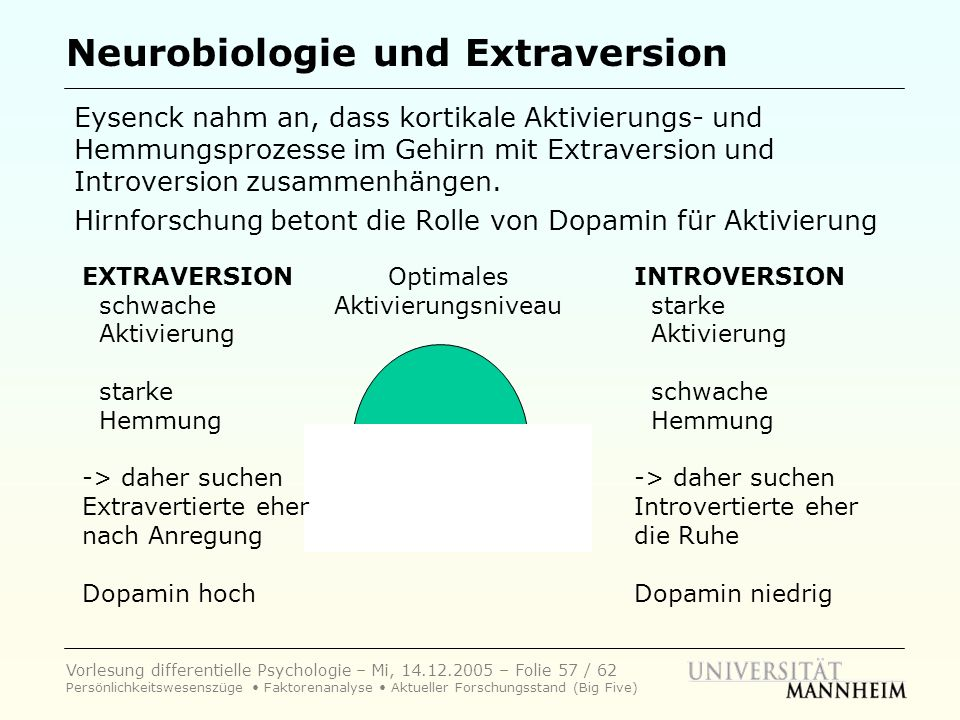 Neurobiologie und Extraversion