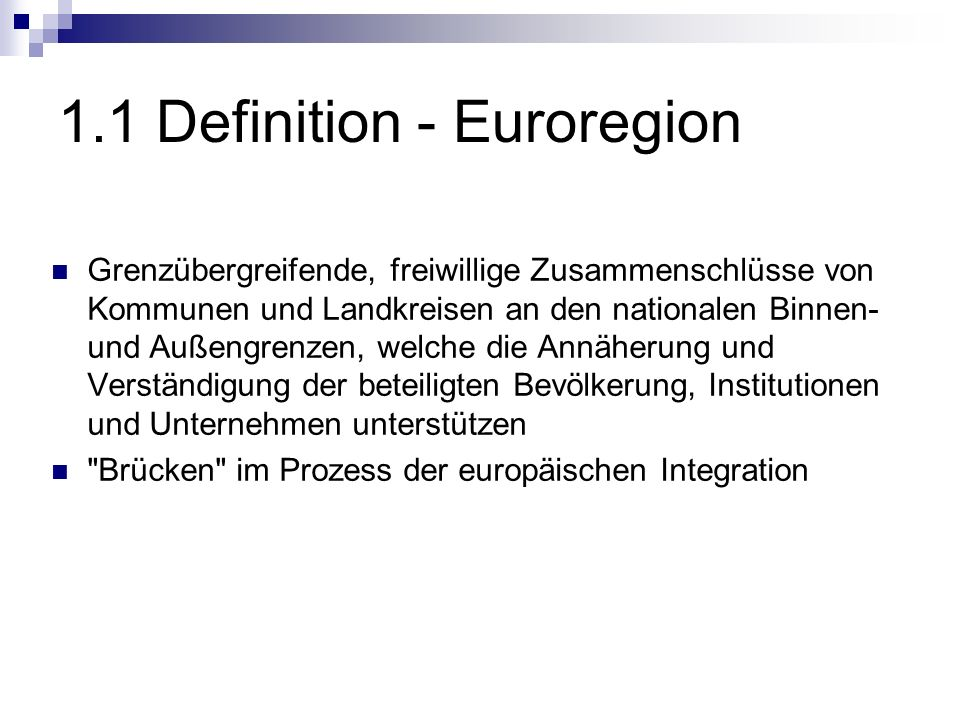 1.1 Definition - Euroregion