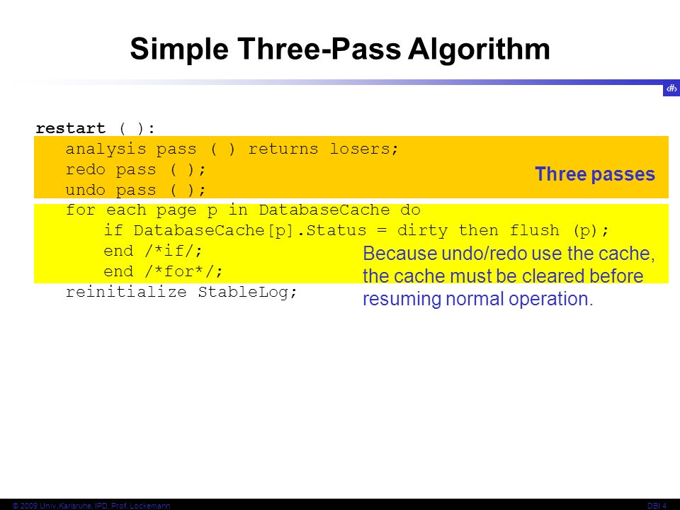 Simple Three-Pass Algorithm