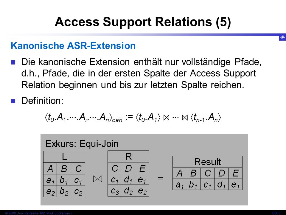 Access Support Relations (5)