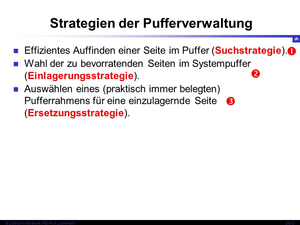 Strategien der Pufferverwaltung