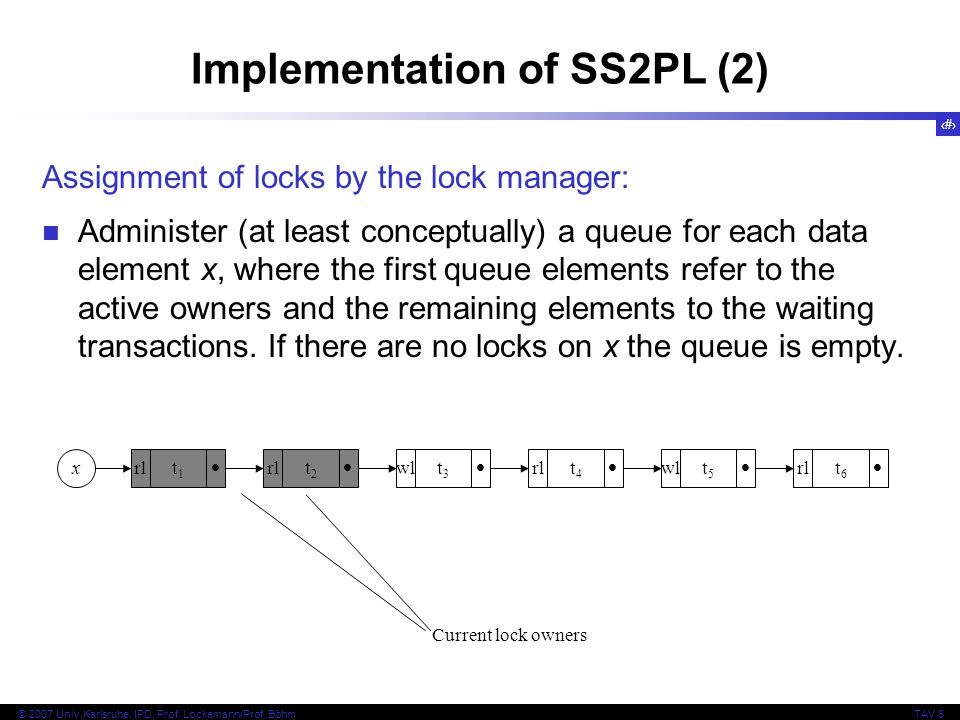 Implementation of SS2PL (2)