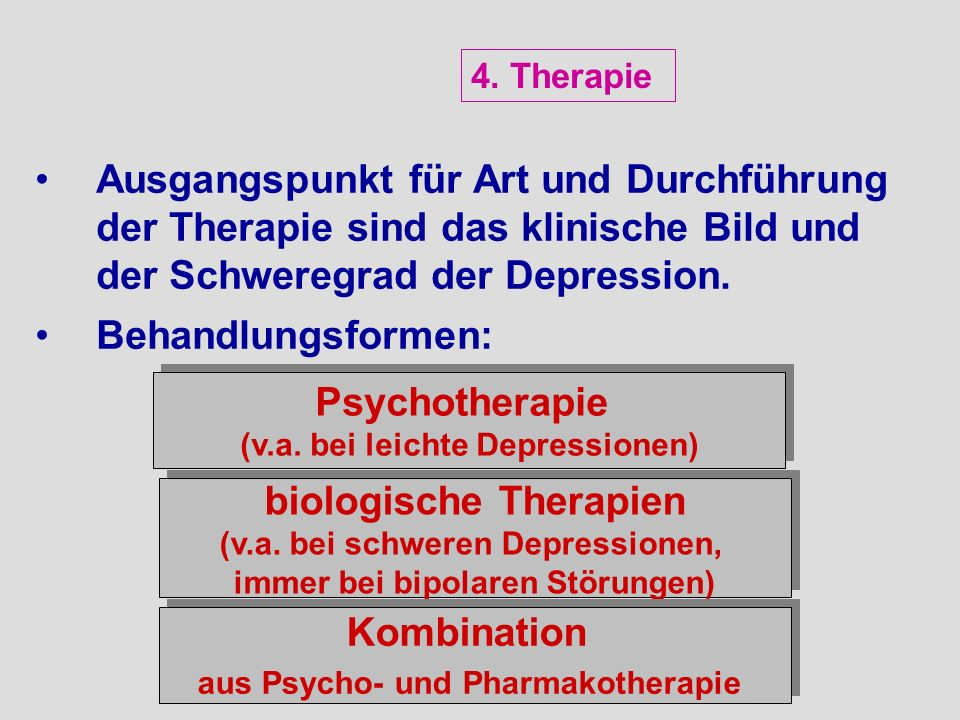 Psychotherapie biologische Therapien Kombination