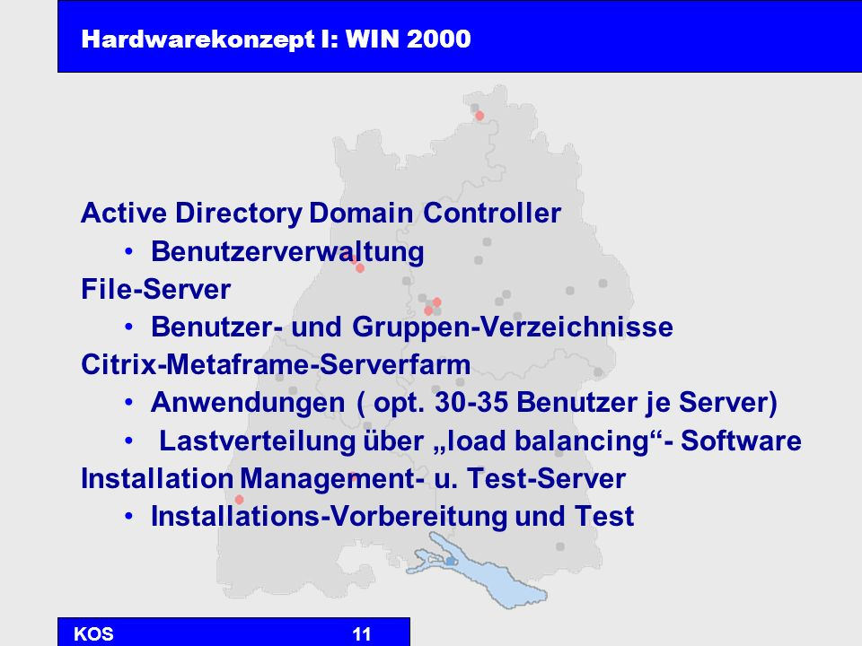 Hardwarekonzept I: WIN 2000