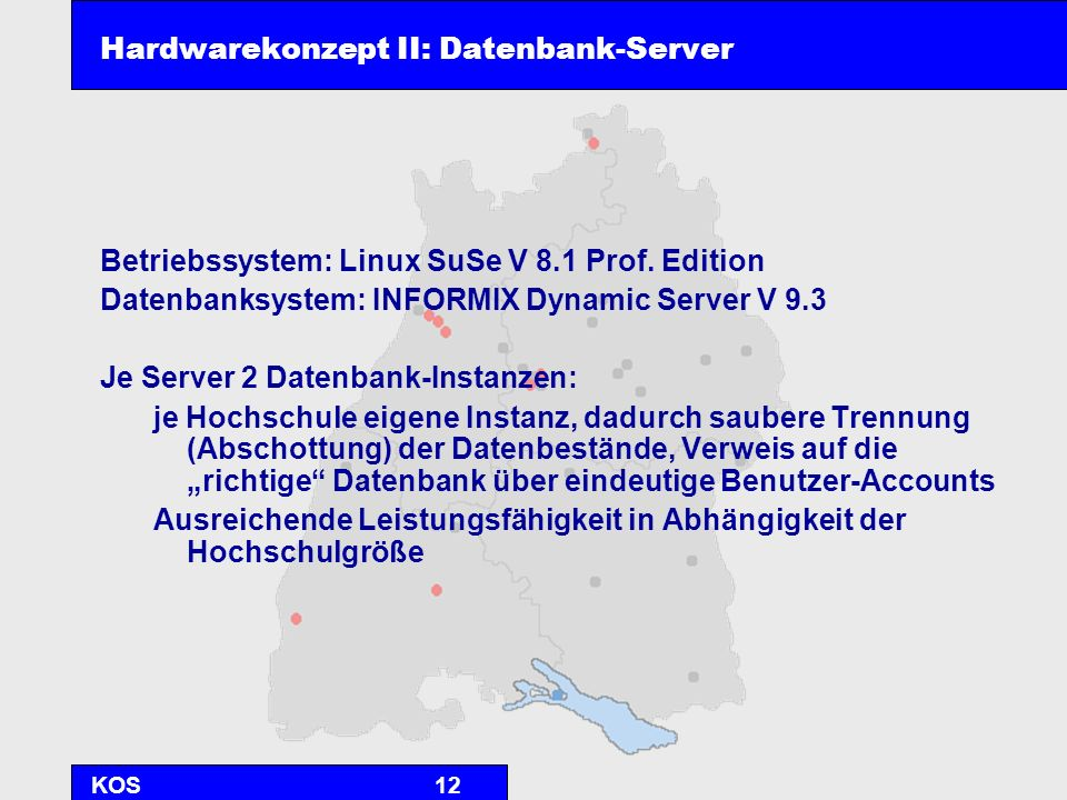 Hardwarekonzept II: Datenbank-Server
