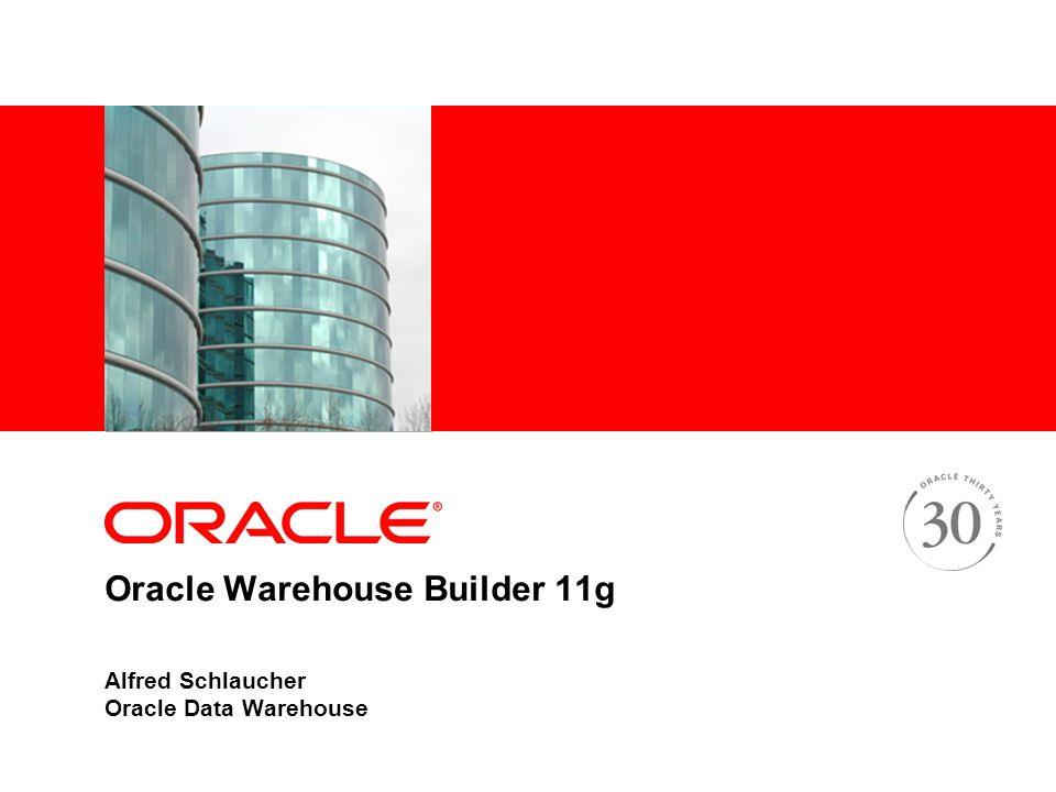 Oracle Warehouse Builder 11g