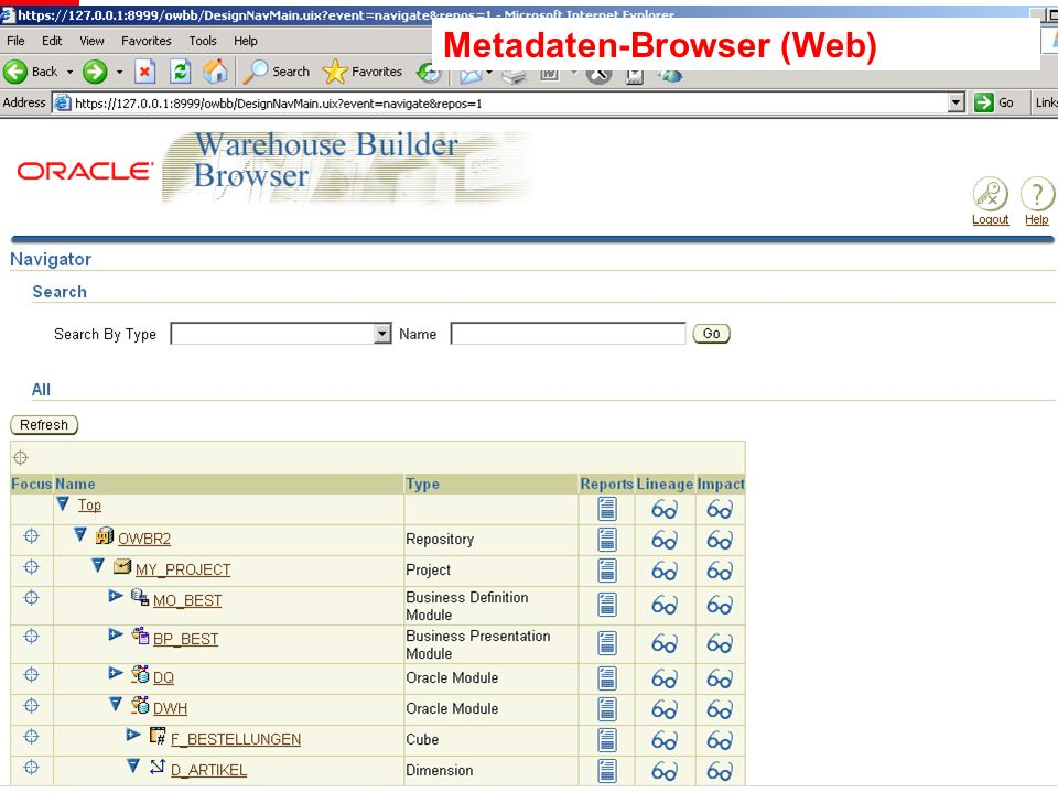 Metadaten-Browser (Web)