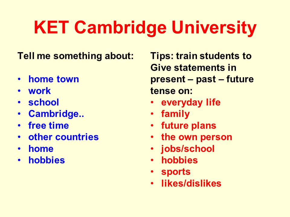 KET Cambridge University