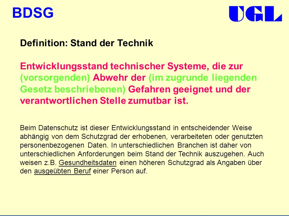 Definition: Stand der Technik