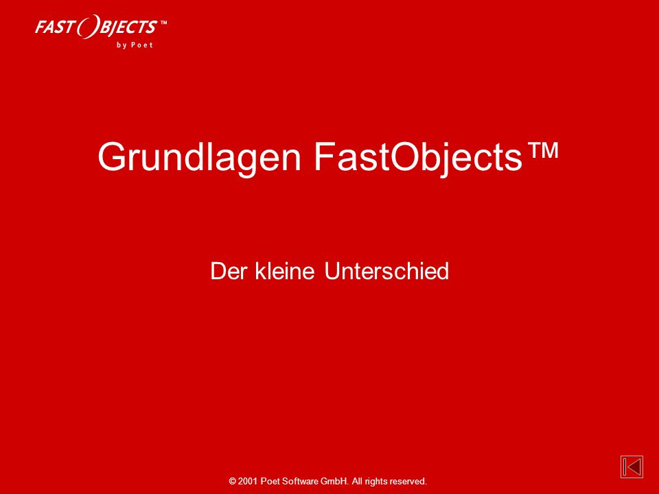 Grundlagen FastObjects™