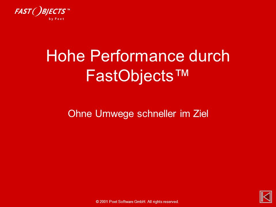 Hohe Performance durch FastObjects™