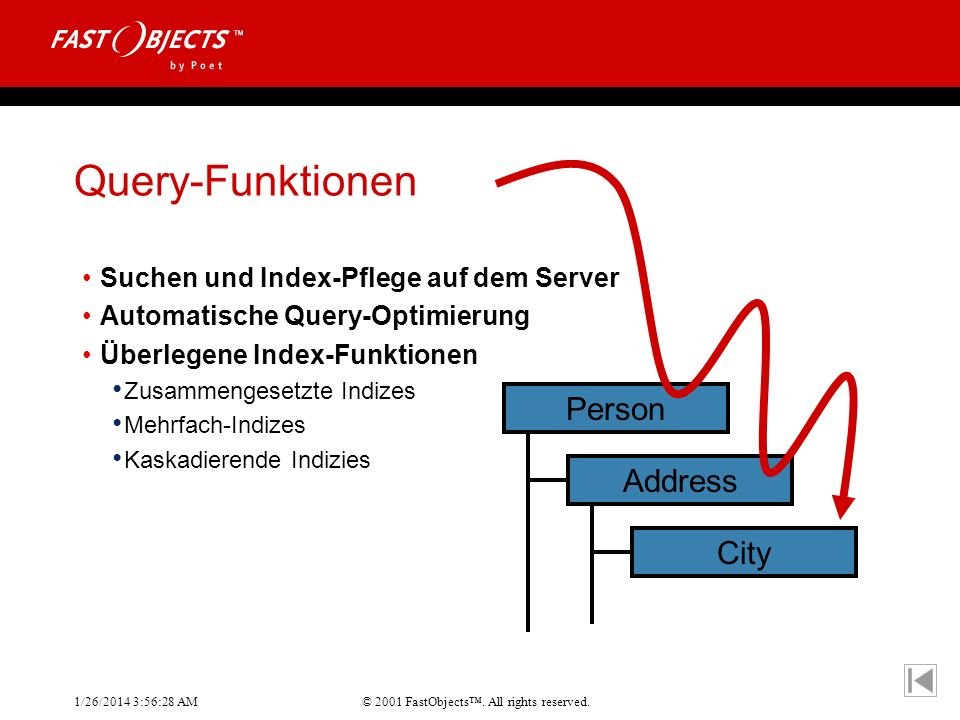 Query-Funktionen Person Address City