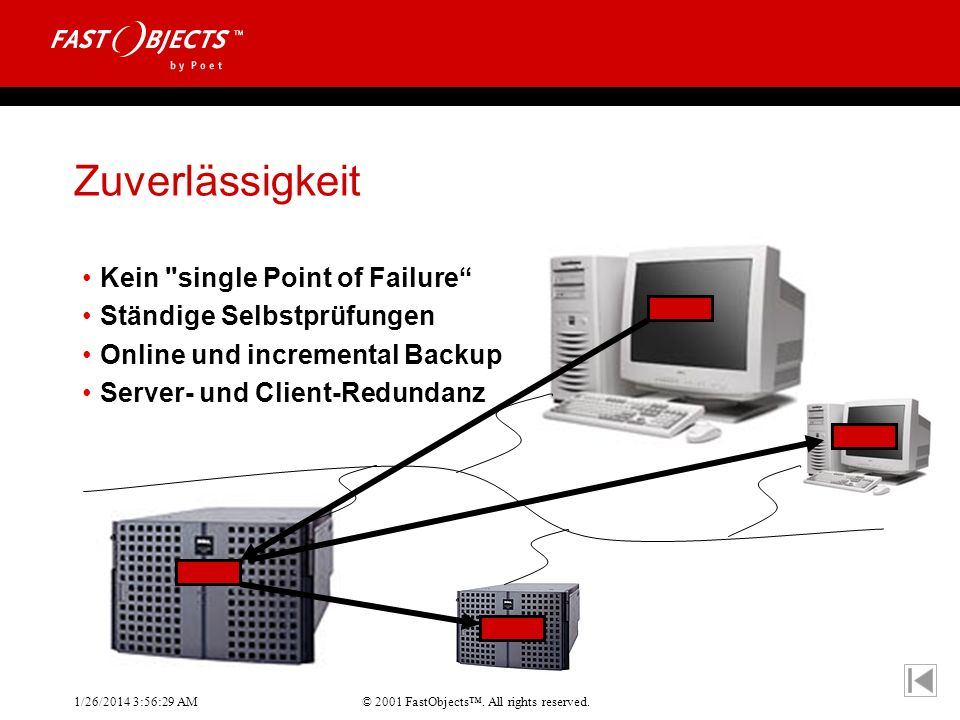 Zuverlässigkeit Kein single Point of Failure