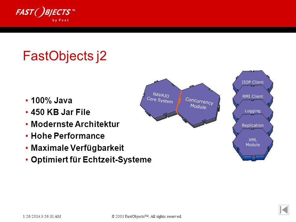 FastObjects j2 100% Java 450 KB Jar File Modernste Architektur