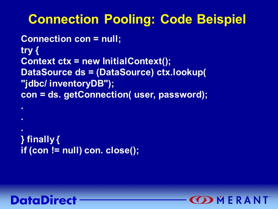 Connection Pooling: Code Beispiel