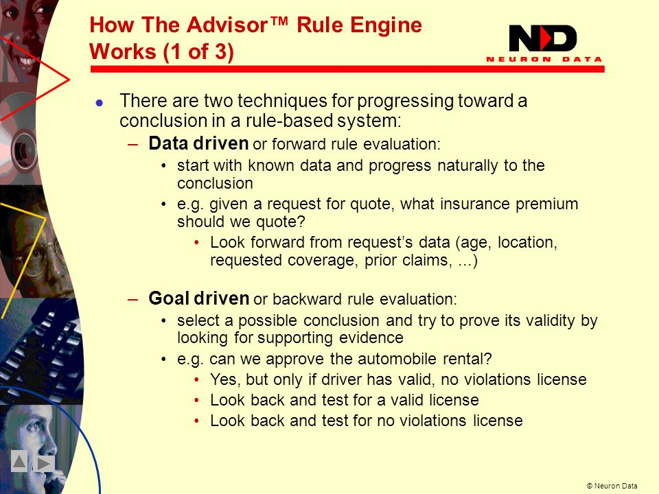How The Advisor™ Rule Engine Works (1 of 3)