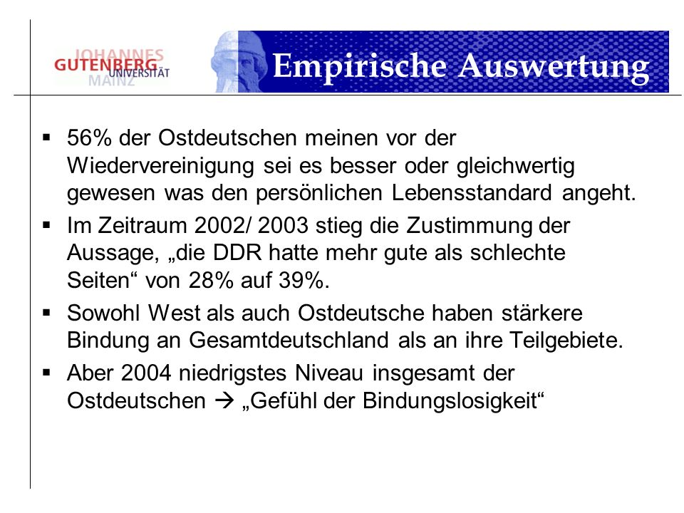 Empirische Auswertung