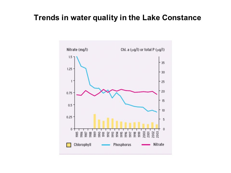 Trends in water quality in the Lake Constance
