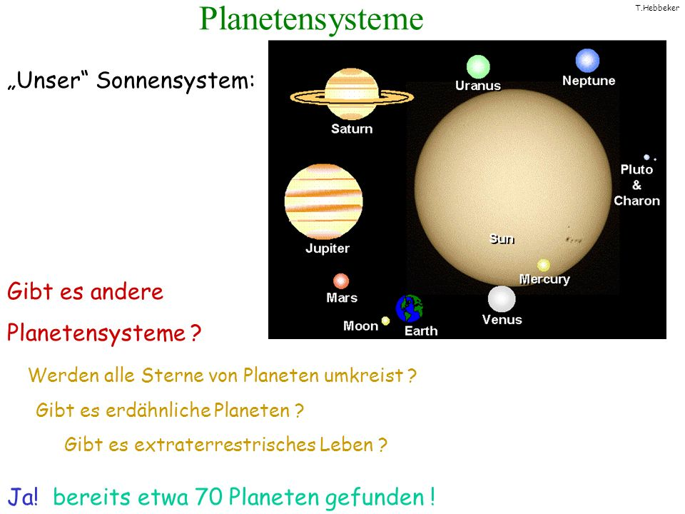 "Planetensysteme ""Unser Sonnensystem: Gibt es andere Planetensysteme"