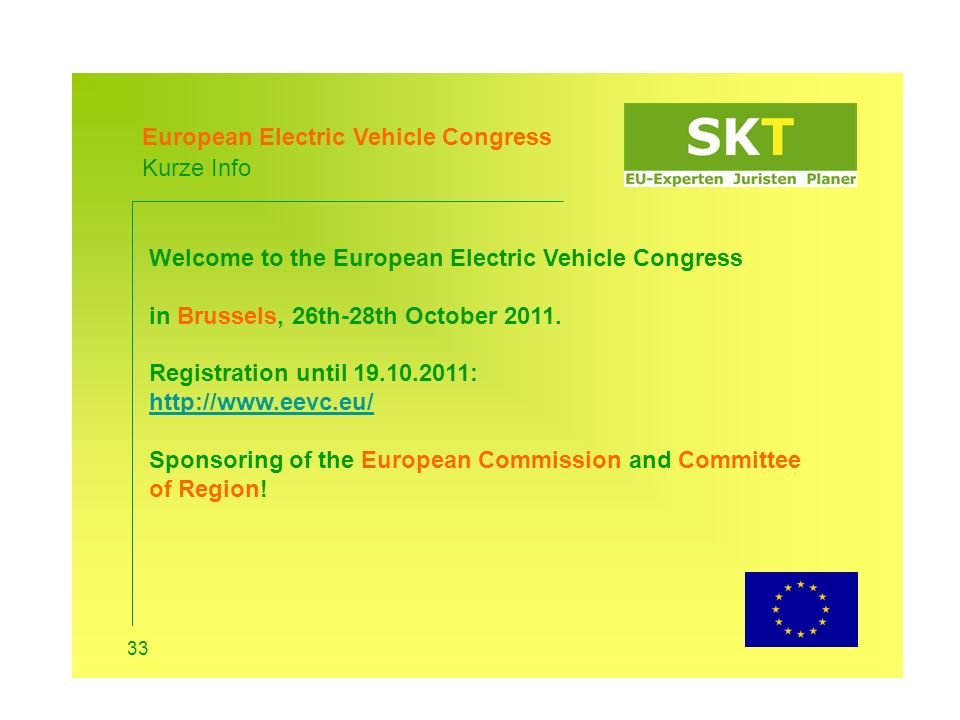 European Electric Vehicle Congress Kurze Info