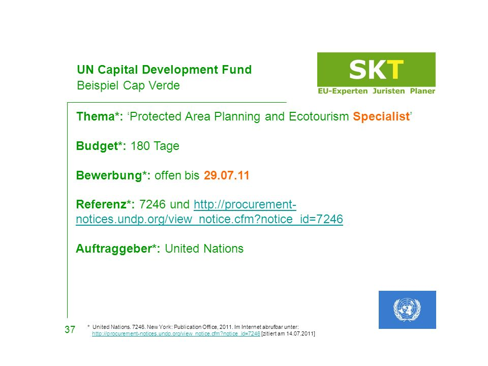 UN Capital Development Fund Beispiel Cap Verde