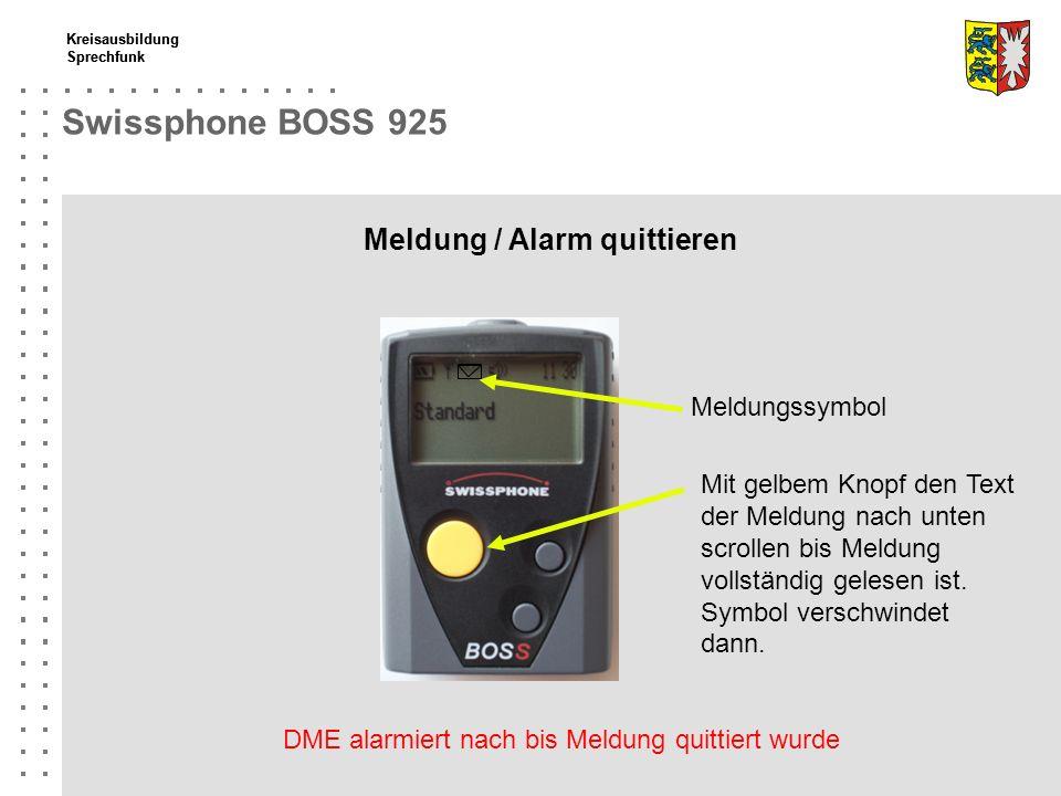 47a031a66d32e 8 Fortbildung Brandübungscontainer Swissphone BOSS 925 Meldung   Alarm  quittieren Meldungssymbol Mit ...