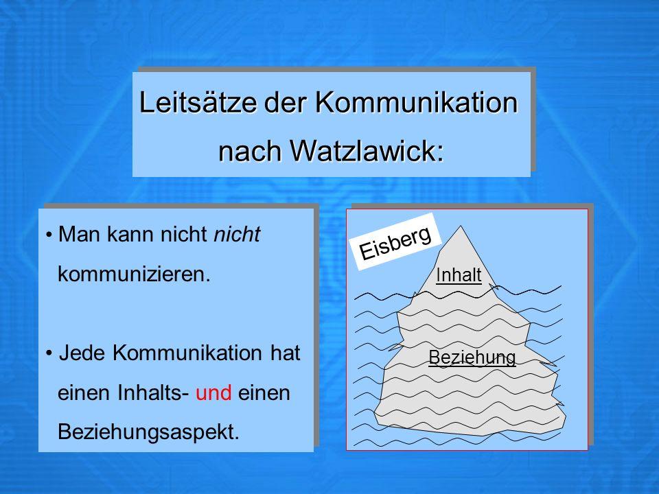 Kommunikationsmodell unterricht watzlawick Kommunikationsmodelle