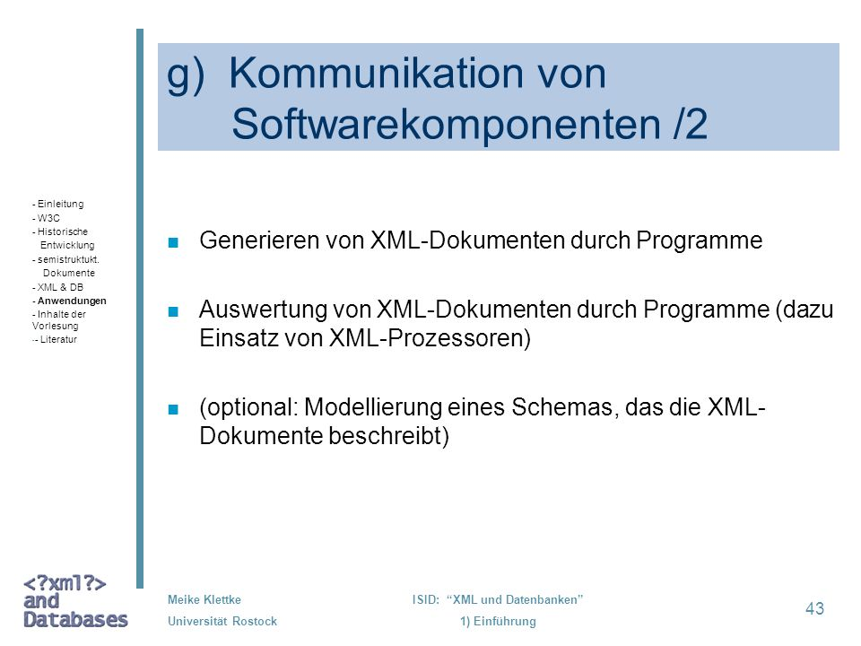 g) Kommunikation von Softwarekomponenten /2