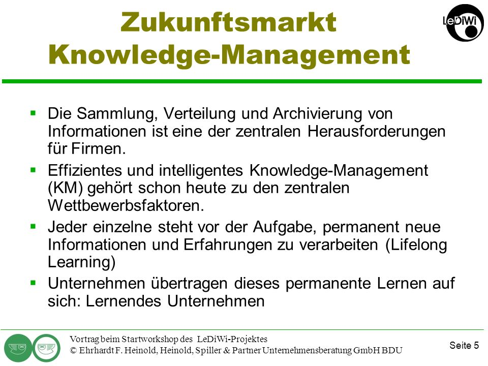 Zukunftsmarkt Knowledge-Management