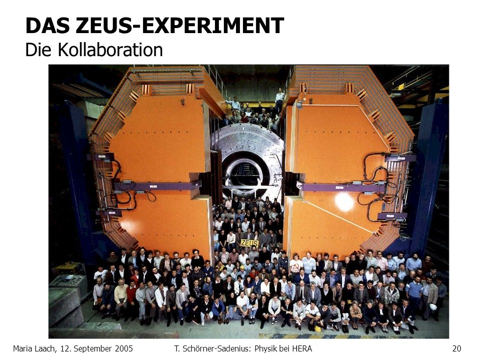DAS ZEUS-EXPERIMENT Die Kollaboration