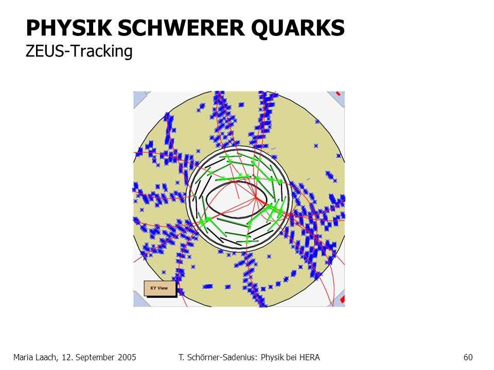 PHYSIK SCHWERER QUARKS ZEUS-Tracking