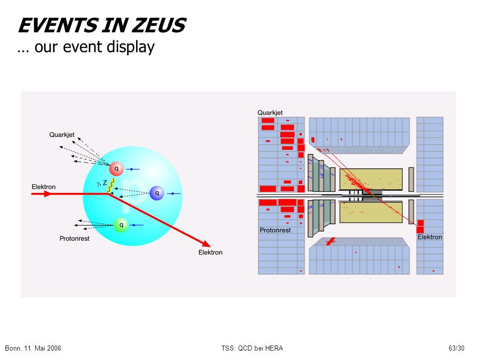 EVENTS IN ZEUS … our event display