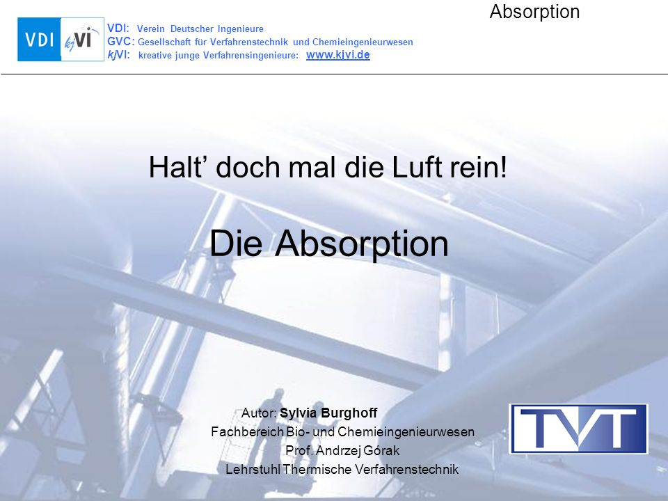 Halt' doch mal die Luft rein! Die Absorption