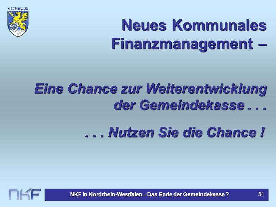 Neues Kommunales Finanzmanagement –