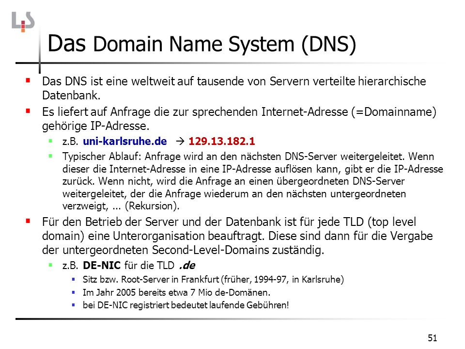 Das Domain Name System (DNS)