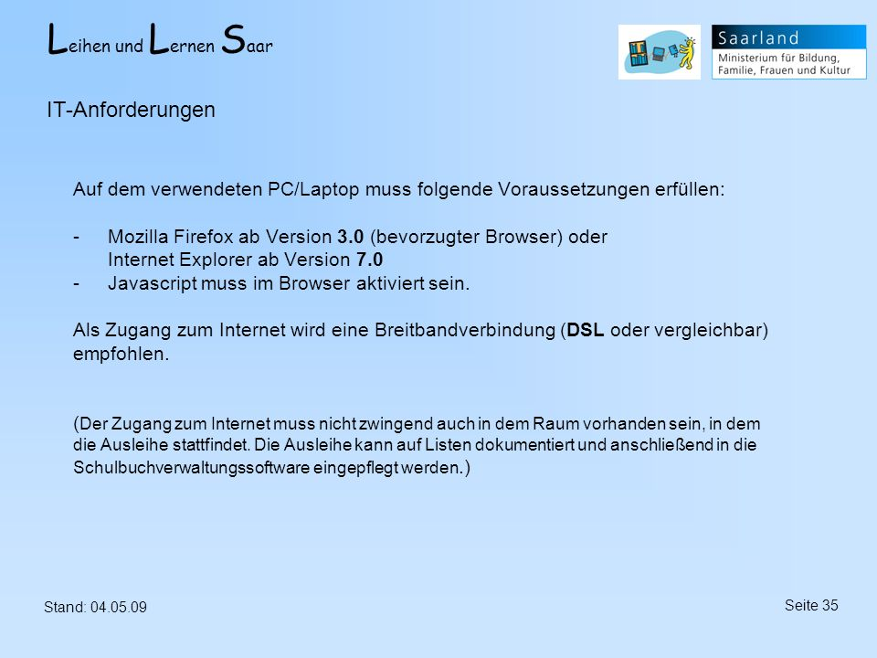 IT-Anforderungen
